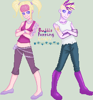 New Ocs: Bubble and Popping by mysticalbadger