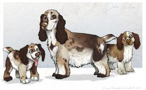 Darla and Pups by Colonels-Corner