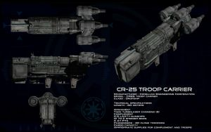 CR-25 Troop Carrier ortho by unusualsuspex