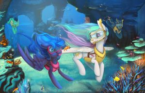 Underwater fun by Stasushka