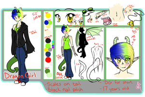 DragonGirl ref sheet by Diigii-Doll