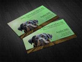 Dog Trainer Business Cards by es32