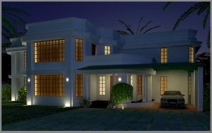 my house - night view by kripal911