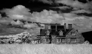 Beside Whitby Abbey (infrared) by GaryTaffinder