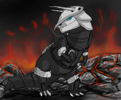 Aggron speed drawing by CrisisV