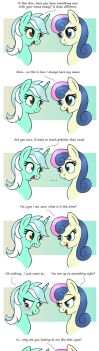 MLP FIM comic - Sweet Lyra And Bon Bon by Joakaha