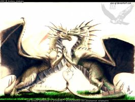 dragon's love... in colour by axe-ql