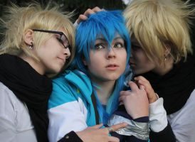 Aoba with the Trash 'brothers' by Akeynen