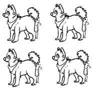 Free lineart - dog - - ms paint - by PointAdoptsforyou