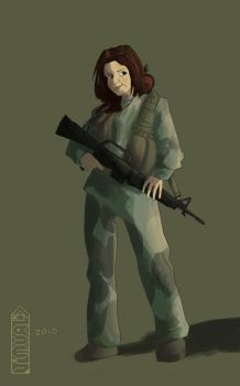 Lady Soldier by JimValid
