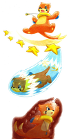 Moveset Artworks by BuizelCream