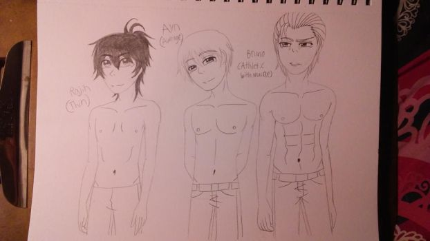 Male body builds of Evillious- Pt. 3 by TomboyJessie13