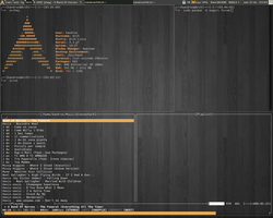 Awesome WM + archlinux - orange theme by zero-kandros