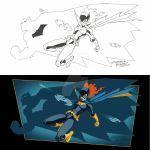 Shadow of the Bat with lineart by GarryHenderson
