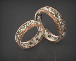Wedding rings by NetAnger