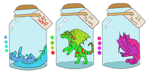 Dragon in a Bottle Adopts 1 {OPEN} by BlackDragonArtist