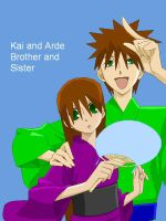 Arde and Kai brother and siste by ArdeOnodera101