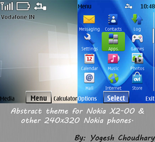 Abstract theme for Nokia 6300 and other 240x320 by cyogesh56
