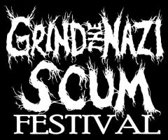 Grind the Nazi Scum Fest logo by Subtrocity