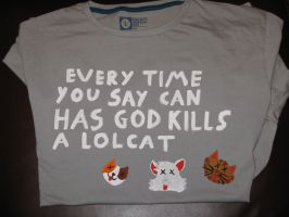 LolCat T-shirt Mk II by IronBrony