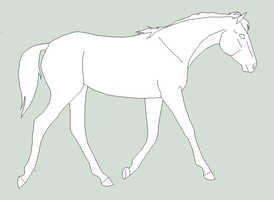 horse lineart by horsecrazy2010