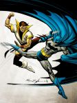 Batman vs Karate Kid by spidermanfan2099