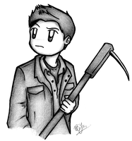 SPN - Dean has a pokey stick. by dongpeiyen1000
