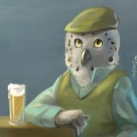 oC: Owl with Ale by NalaFontaine