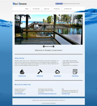 Moseley Construction LLC website design by ealdana