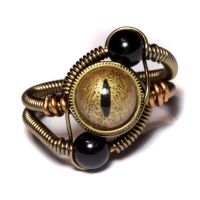 Steampunk Ring Gold and Black by CatherinetteRings