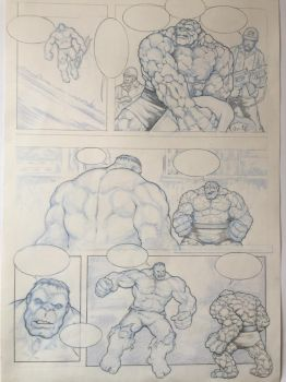 Hulk v Thing by simi8un0
