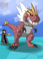 Pokemon Tyrantrum (Bring the fire down) by ColorDrake