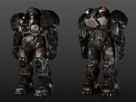 Starcraft II Raynor Marine Model by Walter-NEST