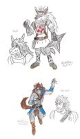 The Ninja and Beastman by jacobspencer04