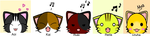 The Gazette kitty's by spiritfoxdemon