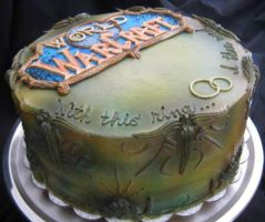 Step Dads Grooms Cake: World of Warcraft Cake!! 2 by Taryndedoo