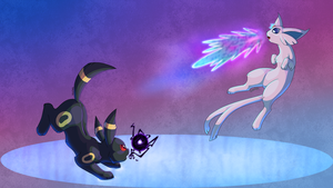 Attack on Espeon by TwitchyGears