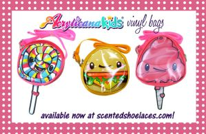 Acrylicanakids Vinyl Bags I by marywinkler