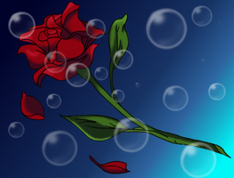 Sinking Rose by InuyashaRules6596
