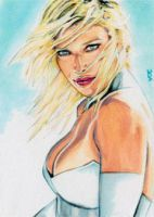 Emma Frost Sketch Card 5 by veripwolf