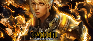 The Space Girl by FarhanGFX