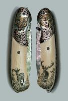 knife wolf-lynx by engraver