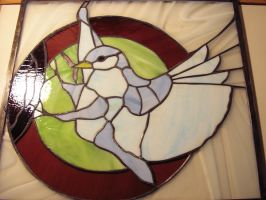 Bird Stained Glass 01 by LoneDireWolfess