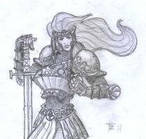 Random Lady with 'Eavy Armour by z00tz00t