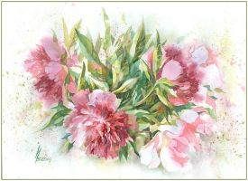 fragrance of peonies by kosharik69