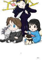 Baby Squall and Baby Rinoa by ViralJP