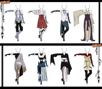Naruto Adoptable Outfit Set 11 - Closed by Orangenbluete