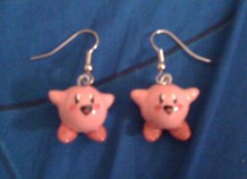 Kirby earrings by Red-Flare