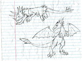 A couple of Dragons I drew by Dinoboy134