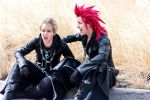 Kingdom Hearts- Axel and Demyx by twinfools